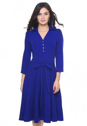 Платье Grey Cat VELES. Цвет: синий
