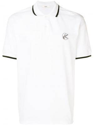 Рубашка-поло с вышитым черепом Bally. Цвет: белый