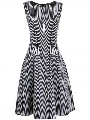 Платье без рукавов с геометричным принтом Antonino Valenti. Цвет: черный