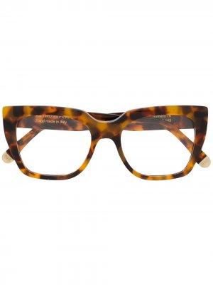 Солнцезащитные очки Numero 76 в квадратной оправе Retrosuperfuture. Цвет: коричневый