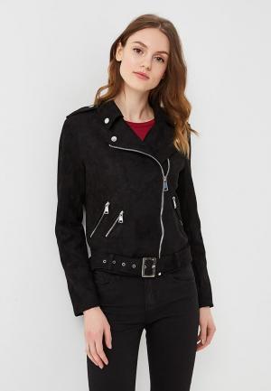 Куртка кожаная B.Style BS002EWARTB1. Цвет: черный