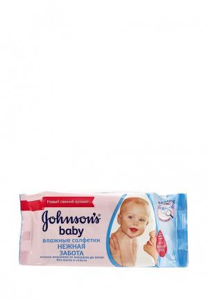 Влажные салфетки Johnson & Johnsons baby для самых маленьких Без отдушки ,128 шт. Цвет: прозрачный