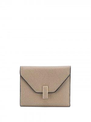 Кошелек-конверт Valextra. Цвет: серый