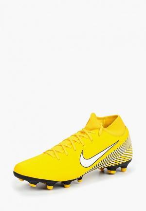Бутсы Nike Mercurial Superfly VI Academy Neymar MG. Цвет: желтый
