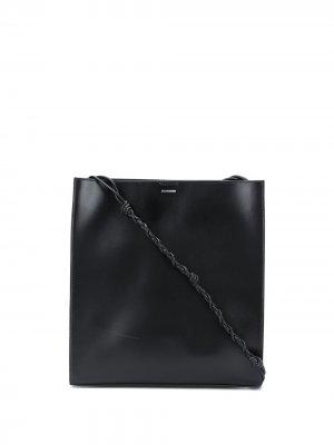 Большая сумка-тоут Tangle Jil Sander. Цвет: черный