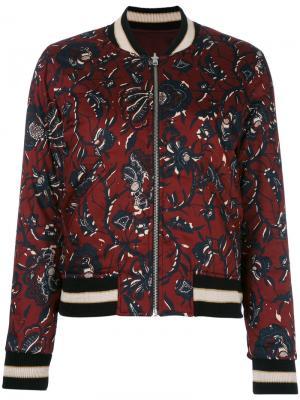 Куртка-бомбер Dabney Isabel Marant Étoile. Цвет: красный