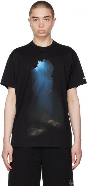 Black Oversized Montage Print T-Shirt Burberry. Цвет: black
