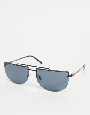 Солнцезащитные очки с линзами в форме полумесяца 404/S-Черный цвет Marc Jacobs