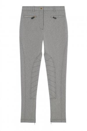 Зауженные брюки из стрейч-денима Burberry. Цвет: серый
