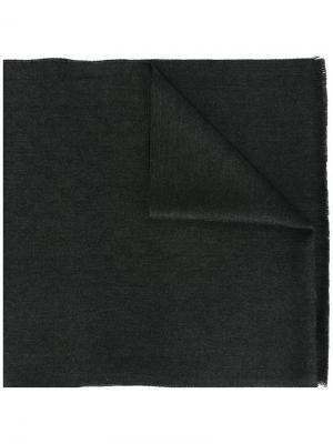 Трикотажный шарф Gucci. Цвет: серый