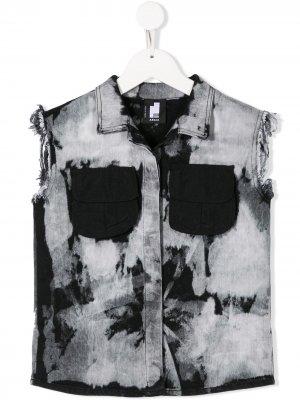 Джинсовая куртка без рукавов Cinzia Araia Kids. Цвет: серый