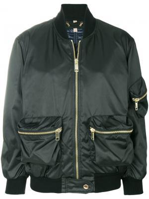 Куртка бомбер Showerproof Burberry. Цвет: чёрный