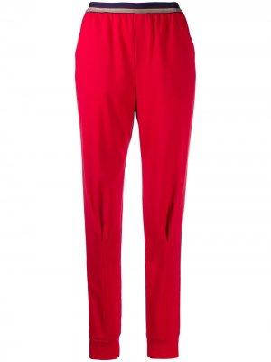 Расклешенные брюки широкого кроя A.F.Vandevorst. Цвет: красный