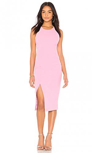 Платье Bardot. Цвет: розовый