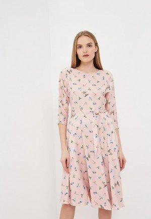 Платье Terekhov Girl. Цвет: розовый