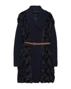 Пальто FABIANA FILIPPI. Цвет: темно-синий