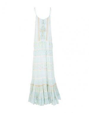 Длинное платье GADO by MARGRIET WAGERAAR. Цвет: светло-зеленый