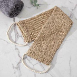 Мочалка-лента массажная доляна, 53×10 см, конопля Доляна