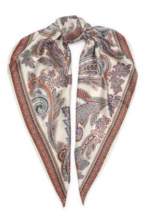 Шелковый платок Michele Binda. Цвет: разноцветный