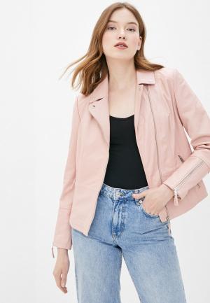 Куртка кожаная Gerry Weber. Цвет: розовый