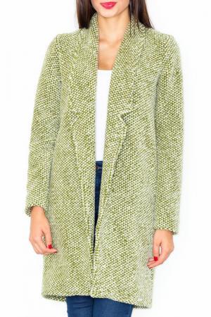 Пальто Figl. Цвет: olive