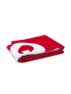 Полотенце с логотипом Dsquared2. Цвет: красный
