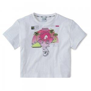 Детская футболка x SEGA Tee PUMA. Цвет: белый