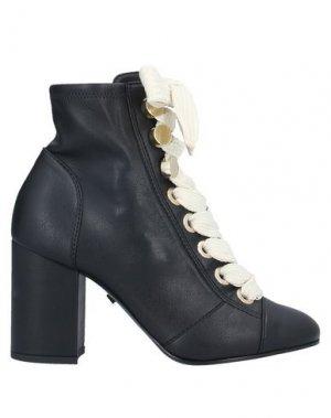 Полусапоги и высокие ботинки GREY MER. Цвет: черный
