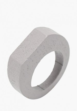 Кольцо diva. Цвет: серый