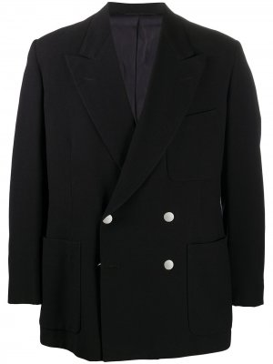 Двубортный пиджак 1980-х годов A.N.G.E.L.O. Vintage Cult. Цвет: черный