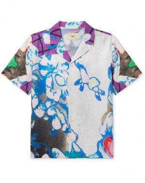 Pубашка FOLK. Цвет: белый
