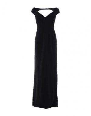 Длинное платье VERSACE. Цвет: черный