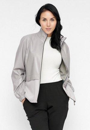 Куртка кожаная Bellart. Цвет: серый