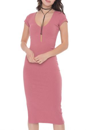 Платье-миди Monica FREESPIRIT. Цвет: розовый