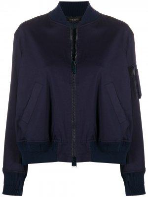 Куртка-бомбер на молнии Roberto Collina. Цвет: синий