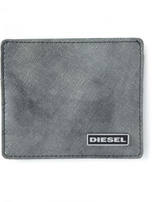Кошельки и визитницы Diesel. Цвет: серый