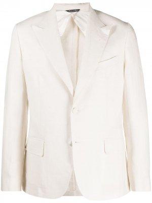 Однобортный пиджак Reveres 1949. Цвет: белый