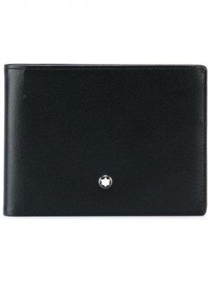 Классический бумажник Montblanc. Цвет: черный