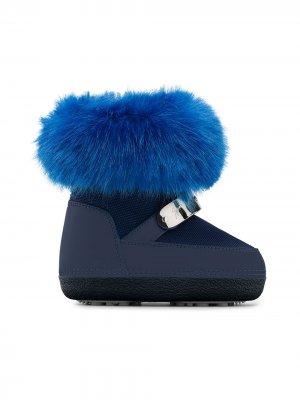 Лыжные ботинки Sammy JR Giuseppe Zanotti. Цвет: синий