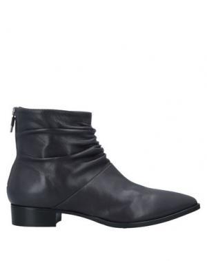 Полусапоги и высокие ботинки ALBERTO FERMANI. Цвет: стальной серый