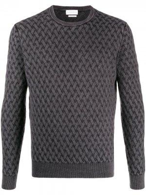 Фактурный свитер с круглым вырезом Ballantyne. Цвет: серый