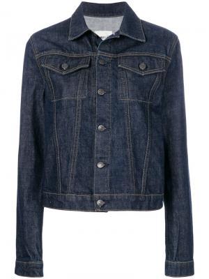 Джинсовая куртка с контрастными полосками на спине Helmut Lang. Цвет: синий
