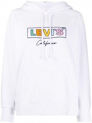 Levis худи с логотипом Levi's. Цвет: белый