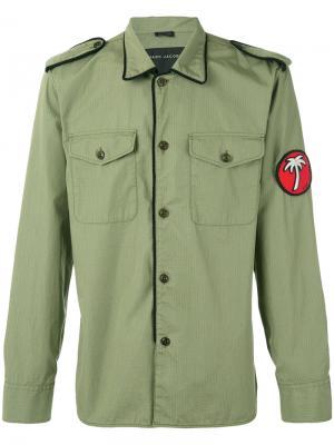 Пиджак в стиле милитари с заплаткой Marc Jacobs. Цвет: зелёный