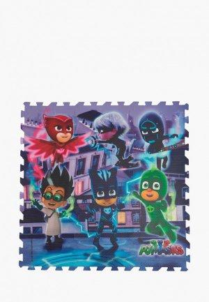 Коврик детский Росмэн - пазл PJ Masks. Цвет: разноцветный