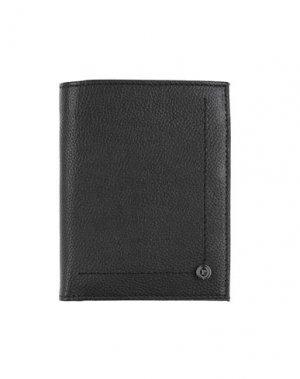 Бумажник POLLINI. Цвет: черный