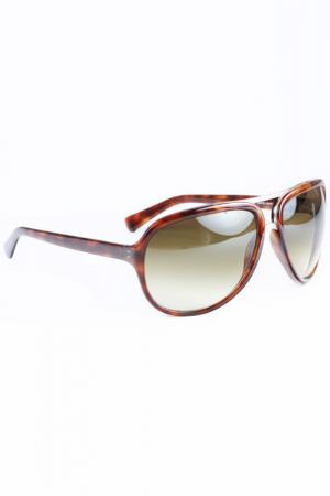 Очки солнцезащитные Givenchy. Цвет: мультицвет, коричневый
