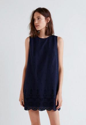 Платье Mango - DUCK-H. Цвет: синий