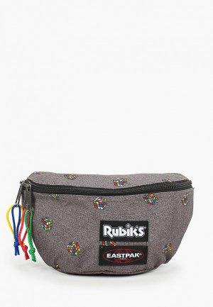 Сумка поясная Eastpak x Rubiks. Цвет: серый