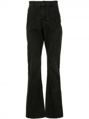 Расклешенные джинсы Off-White. Цвет: черный